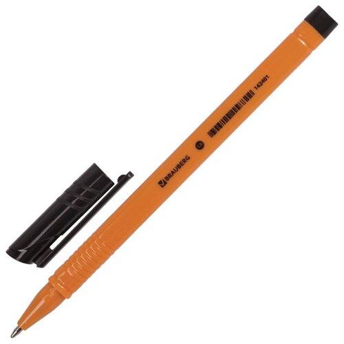 BRAUBERG Ручка шариковая Solar, 1.0 мм (142401/142402), черный цвет чернил ручка гелевая brauberg jet синий