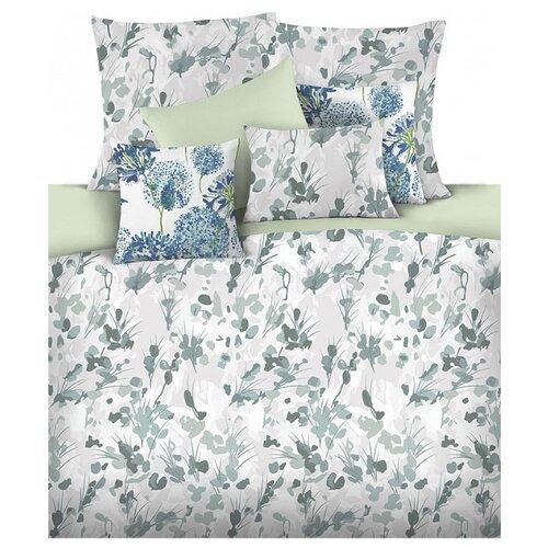 цена Постельное белье 2-спальное Mona Liza Vita 70х70 см, сатин зеленый/серый онлайн в 2017 году