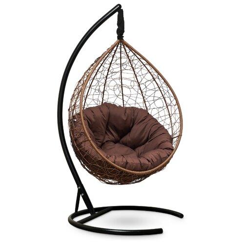Подвесное кресло-кокон Laura Outdoor Sevilla Verde, горячий шоколад/шоколадный