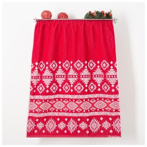 Privilea полотенце Узор банное 75х150 см красный