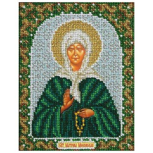Купить Паутинка Набор для вышивания бисером Святая Блаженная Матрона Московская 14 х 18 см (Б-715), Наборы для вышивания