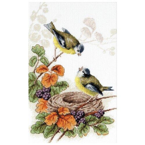 Фото - Luca-S Набор для вышивания Птички у гнезда, 20 х 30.5 см, B215 набор для вышивания luca s b548 клёвое место