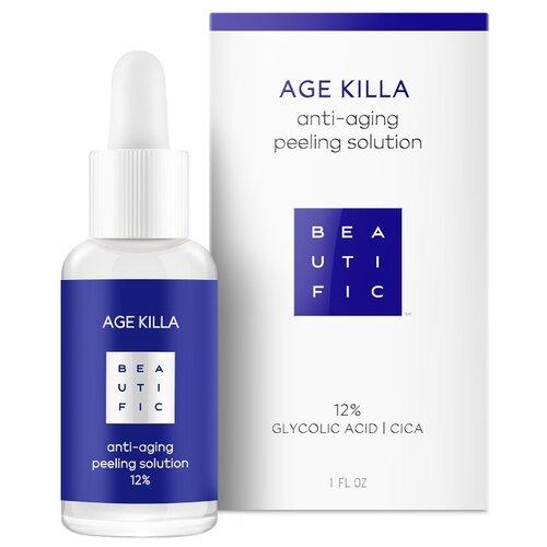 BEAUTIFIC пилинг для лица Age Killa anti-aging peeling solution 12% 30 мл