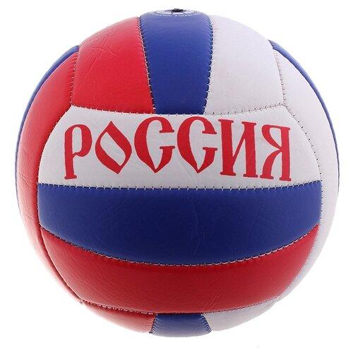 Волейбольный мяч Onlitop Россия белый/синий/красный