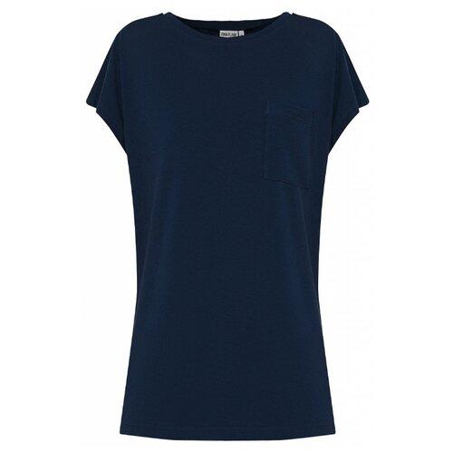 пальто женское finn flare цвет темно синий b18 11016 размер 2xl 52 Футболка FiNN FLARE S20-32013 размер XS, темно-синий