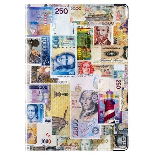 Обложка для паспорта MADAPRINT Деньги 100% натуральная овечья кожа