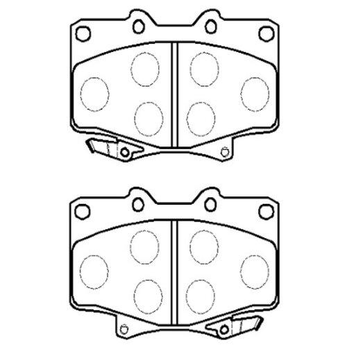 Фото - Дисковые тормозные колодки передние HONG SUNG BRAKE HP5010 для Toyota Land Cruiser (4 шт.) дисковые тормозные колодки передние ferodo fdb4229 для toyota tundra toyota land cruiser toyota sequoia lexus lx 4 шт