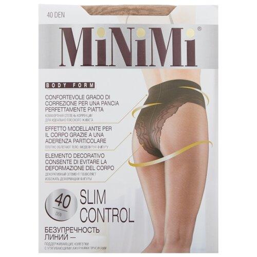 Колготки MiNiMi Slim Control 40 den, размер 3-M, caramello (бежевый) колготки minimi slim control 20 den размер 3 m caramello бежевый