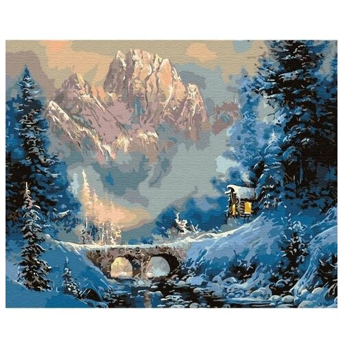 Купить Molly Картина по номерам Зима в горах 40х50см (KD0668), Картины по номерам и контурам