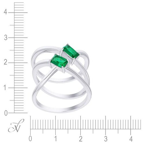 JV Кольцо с фианитами из серебра ML12357A-KO-001-WG, размер 16 jv кольцо с фианитами из серебра r27208 ko 001 wg размер 16