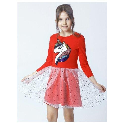 Платье Nota Bene размер 140, красный платье oodji ultra цвет красный белый 14001071 13 46148 4512s размер xs 42 170