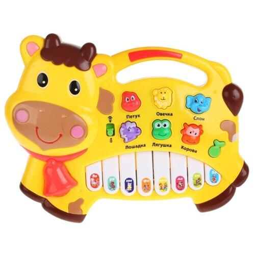 Умка пианино B1052529-R7 желтый, Детские музыкальные инструменты  - купить со скидкой