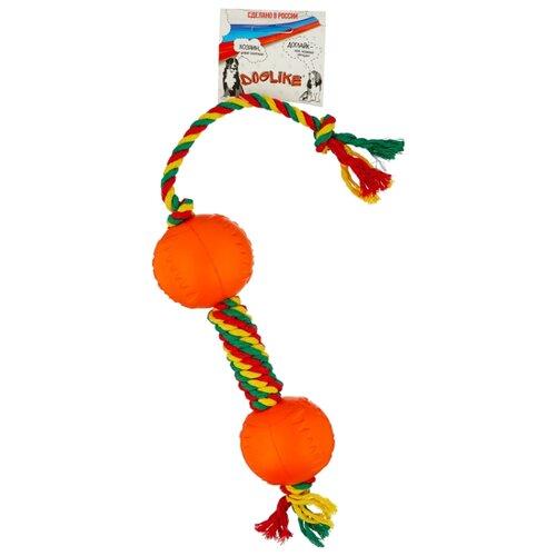 Гантель для собак Doglike Dental Knot канатная цветная малая (D-2370Ц) цветная