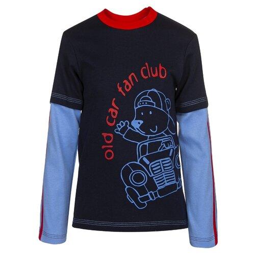 Купить Лонгслив M&D размер 116, темно-синий, Футболки и майки
