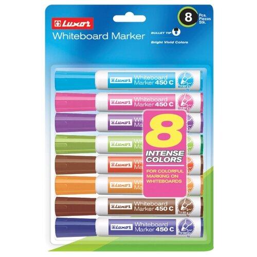 Купить Luxor Набор маркеров для белой доски 450C, 8 шт. (3650F/8BC), Маркеры