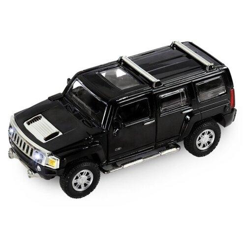 Фото - Внедорожник Автопанорама Hummer H3 (JB1251156) 1:32 14.3 см черный внедорожник hoffmann lexus lx570 102779 1 32 18 см черный