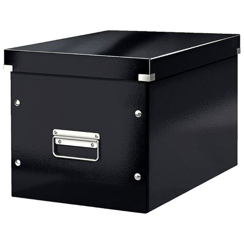 Leitz Короб архивный Click & store WOW L А4, ламинированный картон черный, Файлы и папки  - купить со скидкой