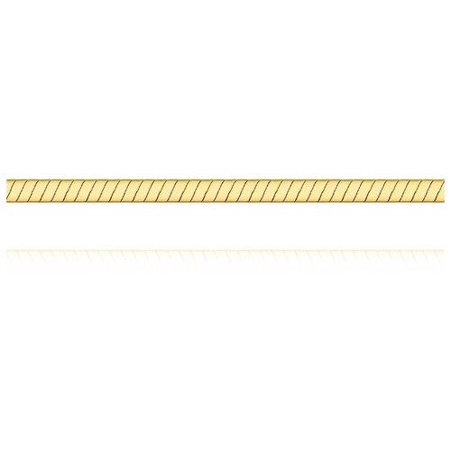АДАМАС Цепь из желтого золота плетения Панцирь одинарный ЦП150УКА1П-А53, 45 см, 8.07 г