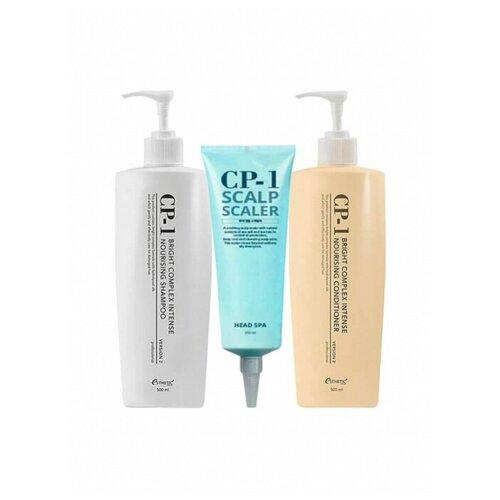 Купить Набор по уходу за волосами ESTHETIC HOUSE CP-1 состоящий из 3х средств (Шампунь, кондиционер, Spa скраб для кожи головы)