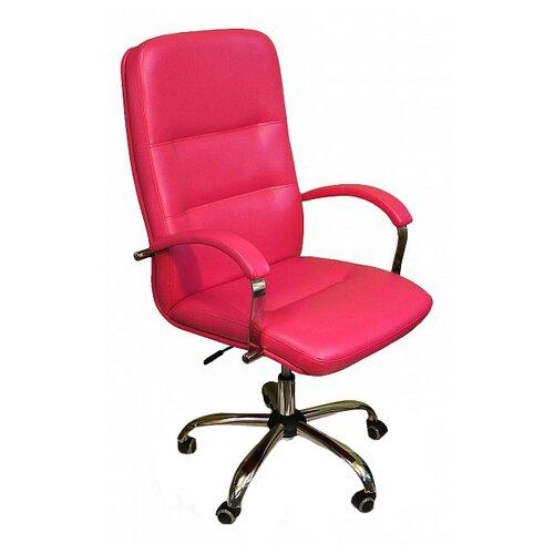 Компьютерное кресло Креслов Пилот КВ-09-130112, обивка: искусственная кожа, цвет: фуксия кресло компьютерное креслов орман кв 08 130112 0453