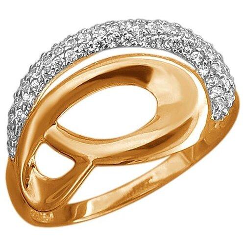 Эстет Кольцо с 78 фианитами из красного золота 01К1113118Р, размер 16.5