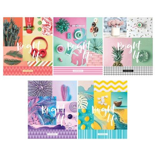 Купить ArtSpace Упаковка тетрадей Стиль. Bright life Т80к_26695, 5 шт./5 дизайнов, клетка, 80 л., Тетради
