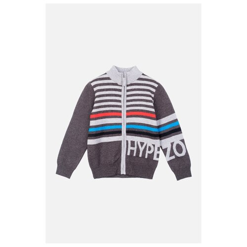 Кардиган playToday размер 152, темно-серый/светло-серый/голубой кардиган для девочки barkito светло серый