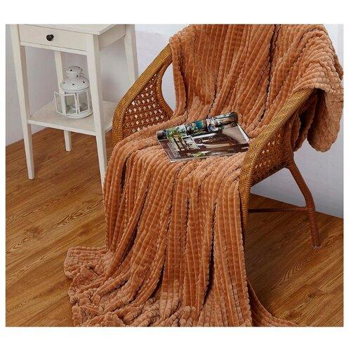 Плед Cleo Carre 200x220 см, светло-коричневый халат домашний cleo cleo mp002xm0ycnr