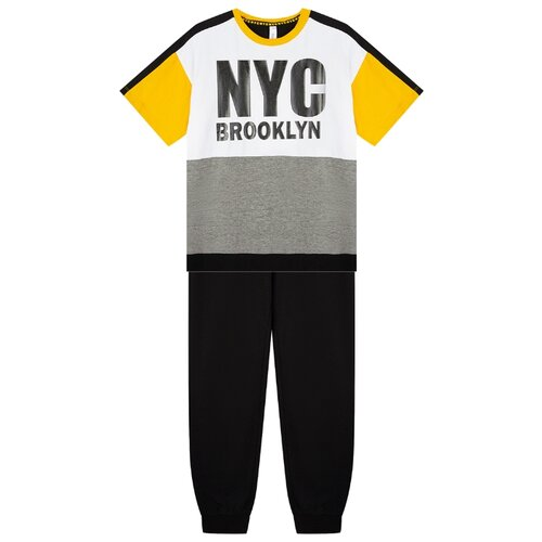 Купить Комплект одежды playToday размер 134, белый/оранжевый/черный, Комплекты и форма