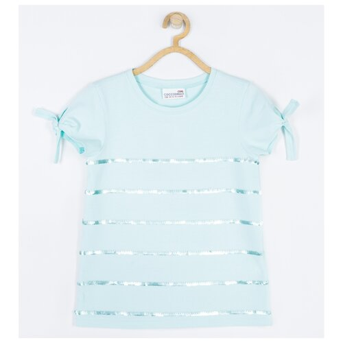 Футболка COCCODRILLO размер 104, голубой пижама coccodrillo размер 104 голубой синий