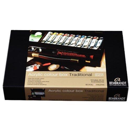 Купить Набор акриловых красок Rembrandt Традиционный 10цв*40мл деревянный короб, Royal Talens, Краски