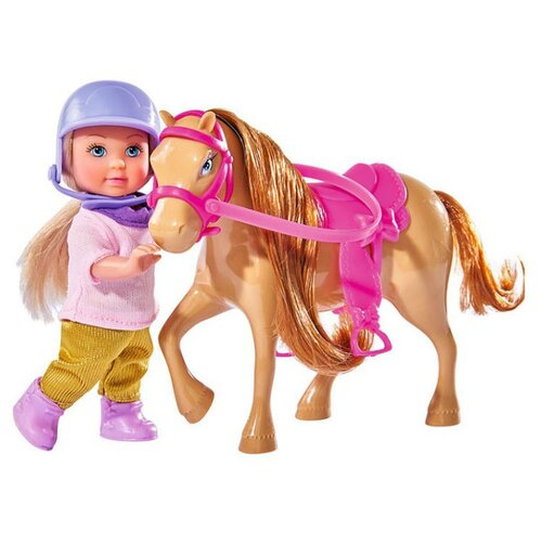 Купить Кукла Simba Еви с пони, 12 см, 5737464-2, Куклы и пупсы