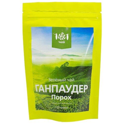 Чай зеленый 101 чай Ганпаудер , 100 г фото