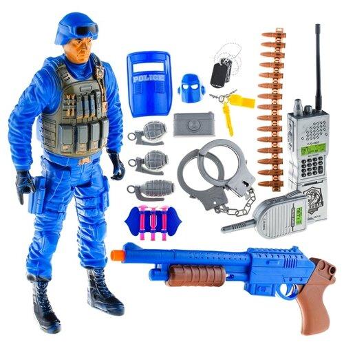 Набор военного Oubaoloon с фигуркой солдата и аксессуарами, автоматом, рацией, в пакете (88914)