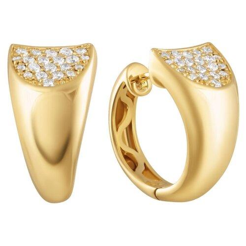 JV Серьги из золота 585 пробы с бриллиантами 21010004-YGDW-SR-YG