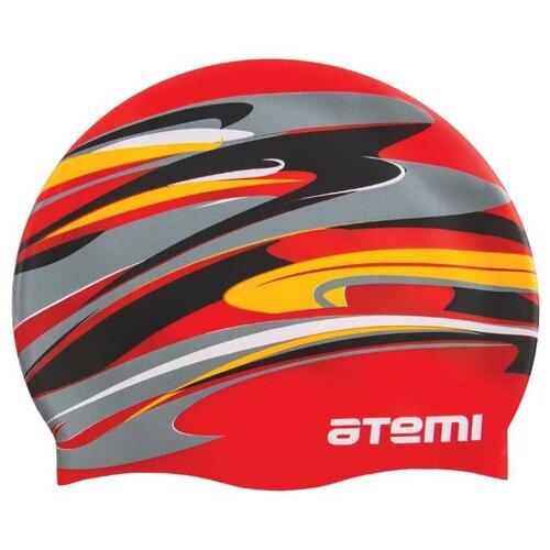 Фото - Шапочка для плавания Atemi, силикон, красная (графика), Psc420 аксессуары для плавания atemi шапочка для плавания графика psc422