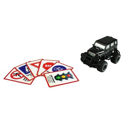Купить Внедорожник Yako Экзамен на отлично (M7091-4) 1:43 черный, Радиоуправляемые игрушки