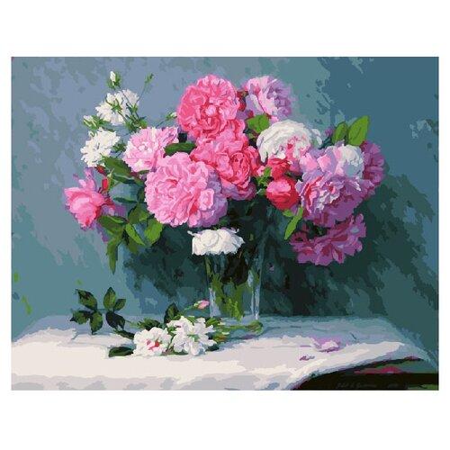 ВанГогВоМне Картина по номерам Розовые пионы, 40х50 см (ZX 20175) вангогвомне картина по номерам белые краски парижа 40х50 см zx 22059