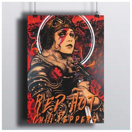 Постер Red Hot Chili Peppers - Silverchair 60х90 см.в рамке