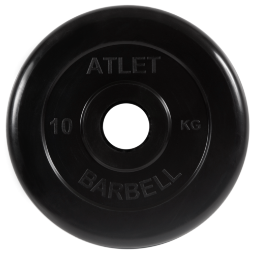 Диск MB Barbell MB-AtletB51 10 кг черный диск mb barbell mb atletb26 10 кг черный