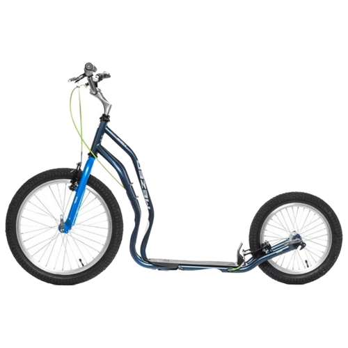 цена на Внедорожный самокат Yedoo Mezeq New V-brake серый/синий