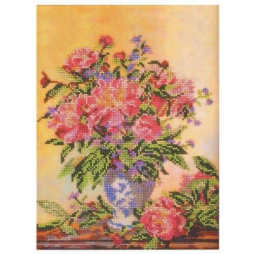 Купить Радуга бисера Набор для вышивания бисером Пионы 23 х 32 см (В-203), Наборы для вышивания
