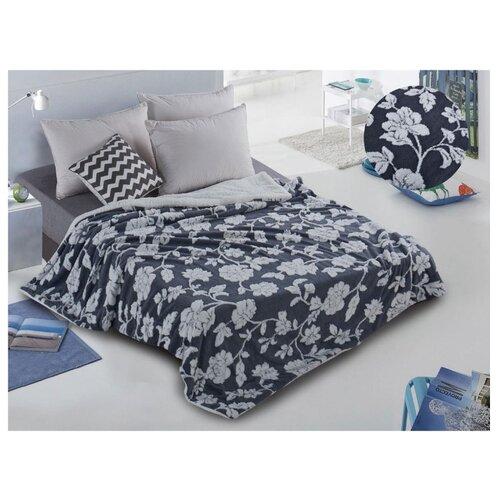 Плед Cleo Fluffy 150x200 см, черный/серый сорочка ночная cleo cleo mp002xw16zuw