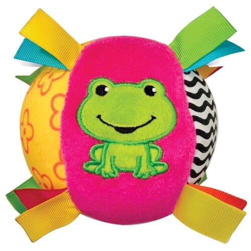 Купить Развивающая игрушка Азбукварик Мячик Песенка Люленьки розовый/зеленый/желтый, Развивающие игрушки