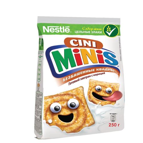 Готовый завтрак Cini Minis безбашенные квадры с корицей, пакет, 250 г фото