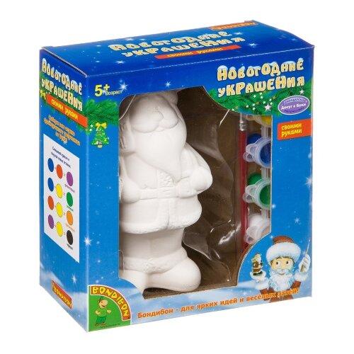 BONDIBON Набор для творчества Новогодние украшения Дед Мороз (ВВ0975), Роспись предметов  - купить со скидкой