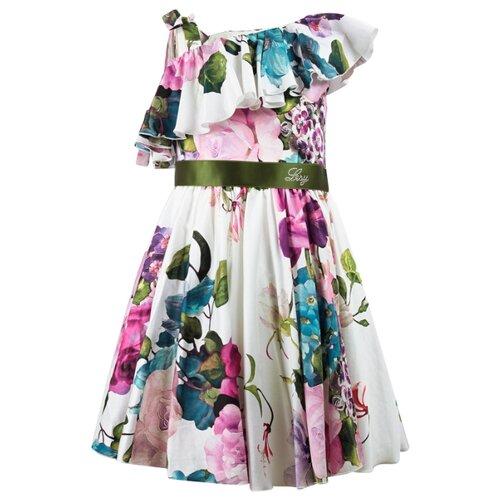 Платье Lesy размер 174, белый/цветочный принт