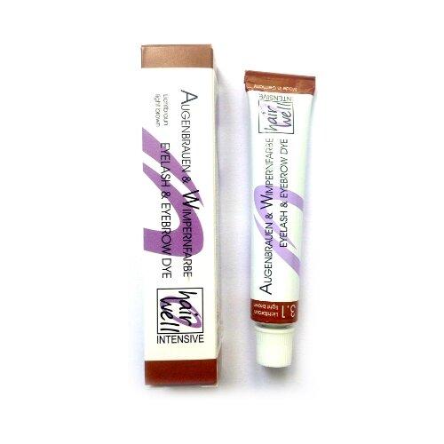 Купить HairWell Краска для бровей и ресниц, 20 мл 3.1 светло-коричневый