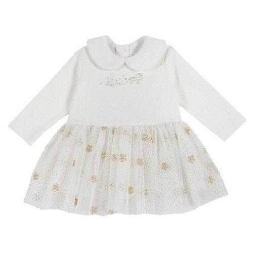 Купить Платье Chicco размер 86, белый, Платья и юбки