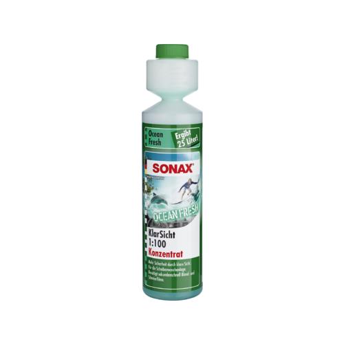 Концентрат жидкости для стеклоомывателя SONAX Свежесть Океана, 0.25 л